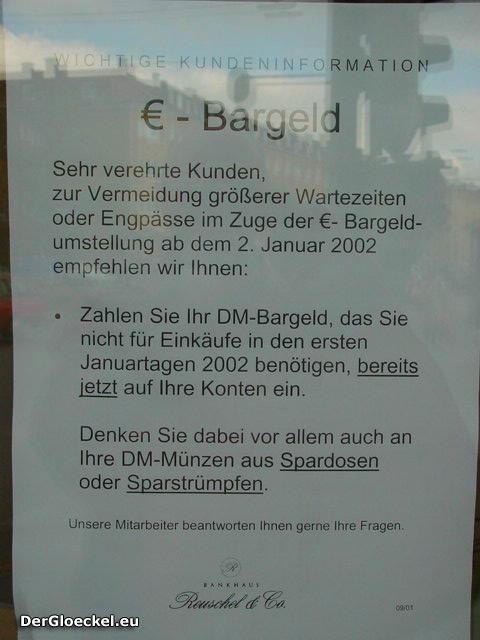 Kundeninformation vom Bankhaus Reuschel & Co
