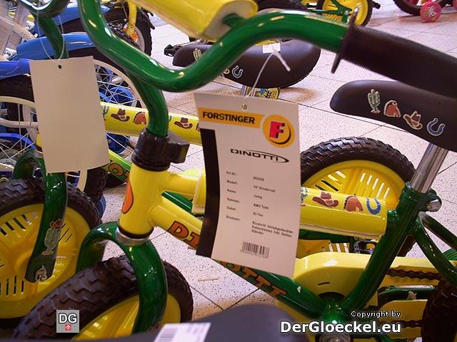 Alle Fahrräder DINOTTI BMX Jump sind mit Produktkarten versehen, die eine Hinterradbremse ausweisen
