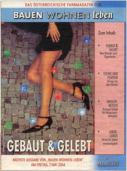 """April 2004 - Werbung Mediaprint """"gebaut und gelebt"""""""