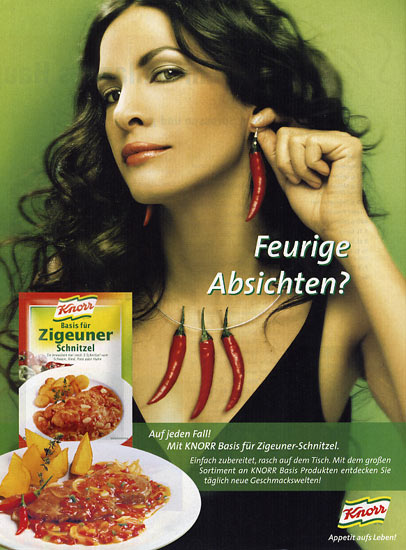 """Mai 2004 - Werbung """"KNORR feurige Absichten"""""""