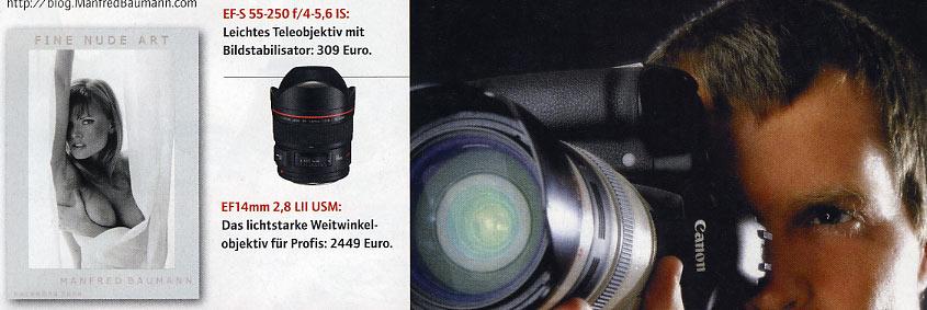 Oktober 2007 - Werbung für Canon-Fotoapparat