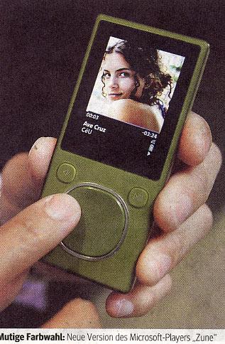 Oktober 2007 - Werbung für Microsoft-Player