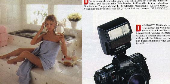 November 1986 - Werbung für das Fliesendorf