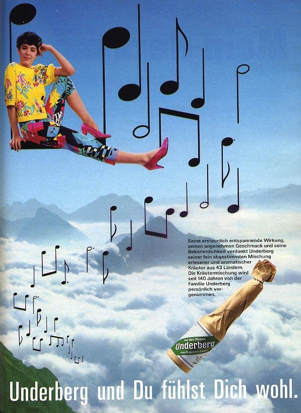November 1986 - Werbung für Underberg