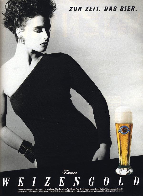 """November 1986 - Werbung für Weizengold """"Zur Zeit das Bier"""""""