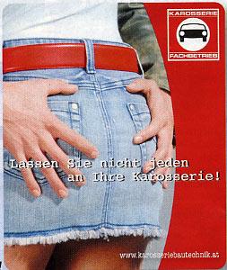 November 2007 - Werbung für Karosserie-Fachbetriebe