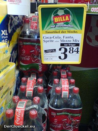 eklatanter Preisunterschied zu COCA COLA im Supermarkt