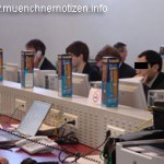 Product Placement im Pressezentrum zum EU-Ratsvorsitz 2006