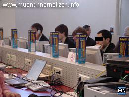 Product Placement im Pressezentrum zum EU-Ratsvorsitz 2006