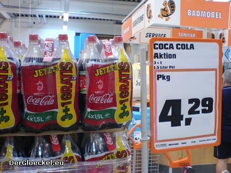 Der Schein trügt, vermeintlich tolles Angebot von COCA COLA im OBI Heimwerkermarkt