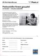 Faksimile der Personalsuche der Österreichischen Post AG