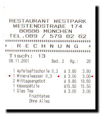 1,50 Euro für ein Wasserglas