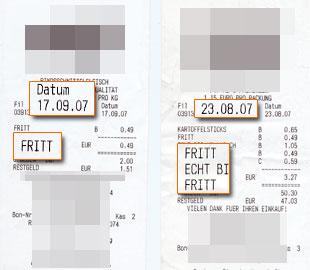 Wir kauften FRITT-Kaubonbon-Packungen über 2 Monate hindurch