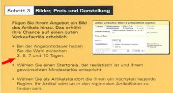 Faksimile des eBay Broschüre