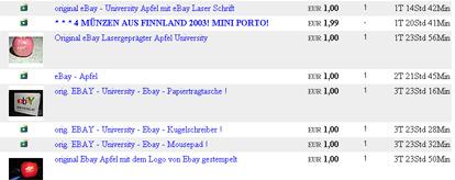 Secreenshot des österreichischen eBay-Portales