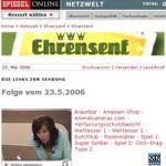 Ehrensenf auf Spiegel Online - Apple ist dabei