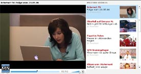 Laptop Harry wird interaktiv in der Sendung eingesetzt