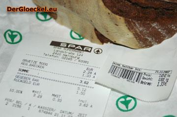 SPAR wollte das Brot mit der Verpackung wiegen und verkaufen - der mündige Konsument reagiert