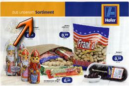 Faksimile der zum Zeitpunkt der Veröffentlichung gültigen Werbeaussendung der HOFER KG - FRANK´S Erdnüsse zu einem VK von 0,99 Euro