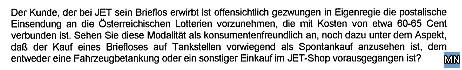 Faksimile der Anfrage an die ConocoPhillips Austria GmbH