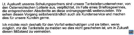 Faksimile der Stellungnahme der ConocoPhillips Austria GmbH