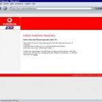 Screenshot Vodanfone D2 Website