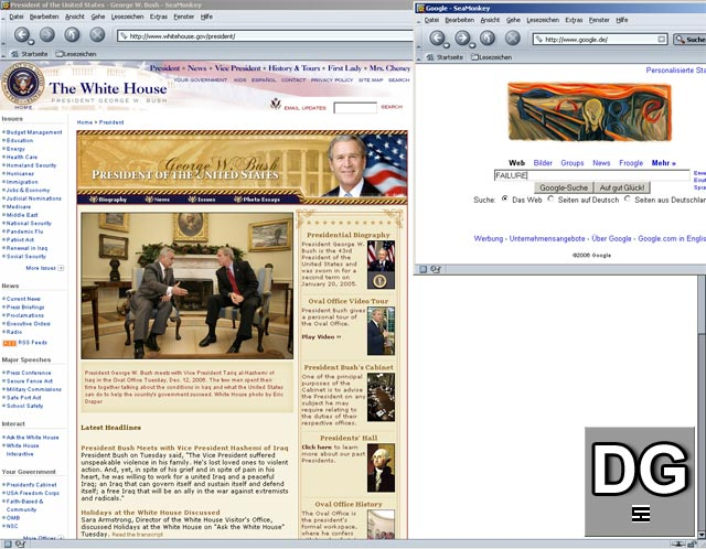"""""""Versager"""" bei Google - George W. Bush"""