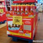 """Verkaufsaufsteller für McDonald´s Tomato-Ketchup vor den Kassen von Toys""""R""""Us"""