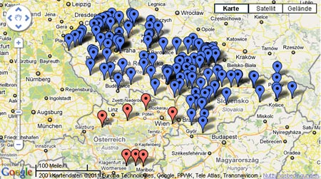 Filialnetz der OKAY-Märkte in Tschechien, Slowakei und Österreich