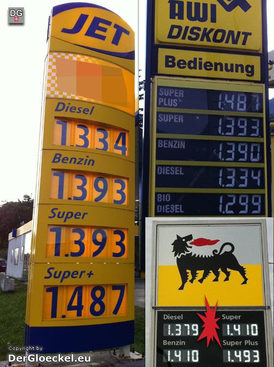 Treibstoffpreise vom 17.9.2011 - 08:15 Uhr