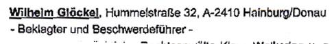 Faksimilie aus dem Beschluß vom Oberlandesgericht München